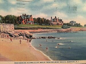Details About Postcard Belmont Beach Residences Along The Cliff Walk In Newport Ri T5