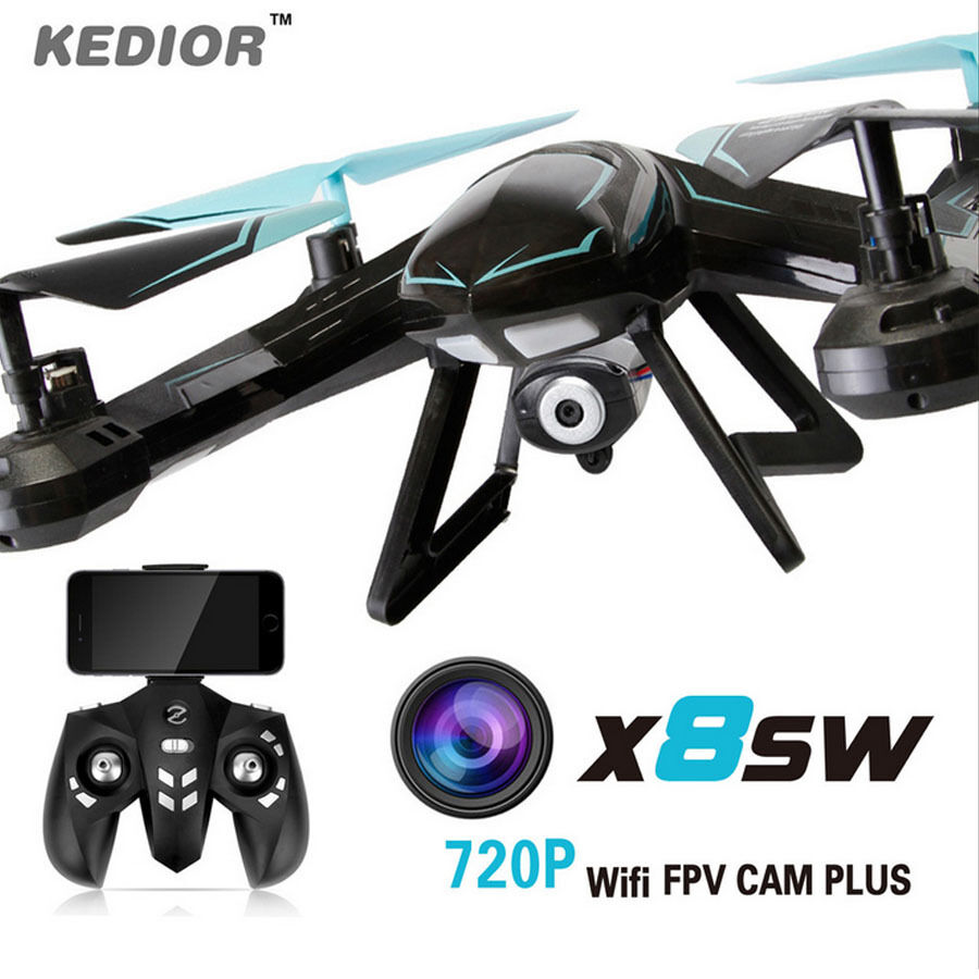 X8sw WIFI 0.3 MP HD Fotocamera FPV DRONE 2.4 G 6-Axis Gyro RC Elicottero Quadcopter UK