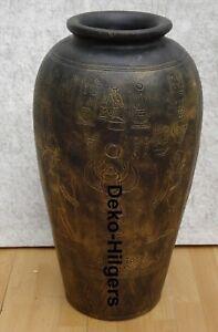 Egiziano vaso grande pavimento vaso personaggio Ramses faraone Egitto sciacallo Decorazione 42g f9