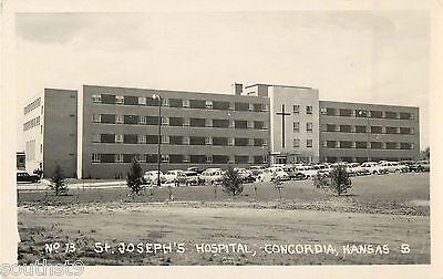 Hand Colored Postcard St. Joseph Hospital in Concordia