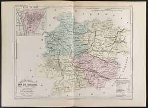 1855-Antique-Map-of-Department-of-Lot-Et-Garonne-per-Dufour