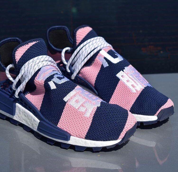 Adidas NMD Hu Pharrell x Billionaire Boys Club Navy Pink Size 13.5. G26277 yeezy