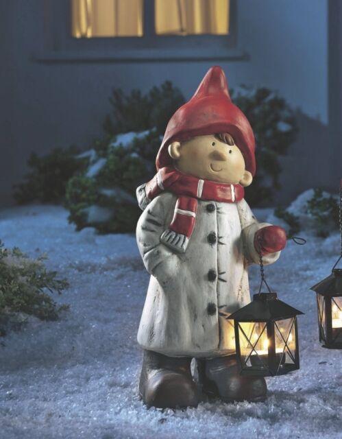 AMSEL Winterjunge mit Laterne Weihnachten Weihnachtsdeko Deko Weihnachtsfigur