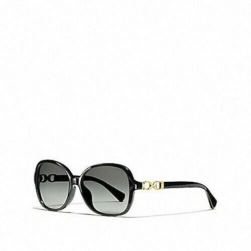 e0f74ad32e8 Coach Women s Kissing CC Black Gold Sunglass With Case Hc8146 L949 for sale  online