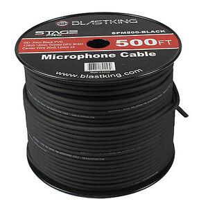 blastking 2 conductor ofc microphone mic cable 500 39 ft black bulk spm500 black 686811891589 ebay. Black Bedroom Furniture Sets. Home Design Ideas