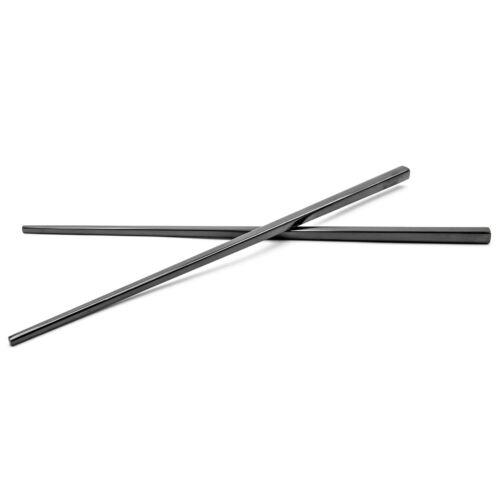 1 Paar China Essstäbchen 23cm Edelstahl schwarzpühlmaschinengeeignet