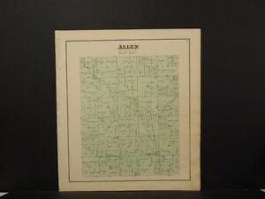 Ohio, Darke County Map, 1875 Township of Allen Z5#21