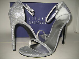 Wide High Heels Shoes Silver