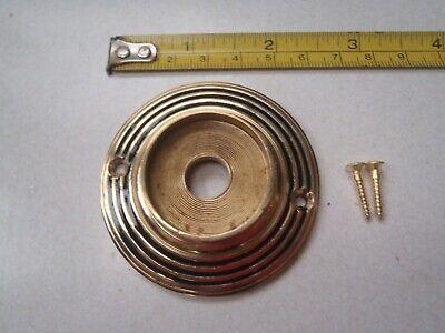 RIM LOCK ETC A 46 mm DIAMETER ANTIQUE STYLE BRASS DOOR KNOB BACK PLATE //ROSE