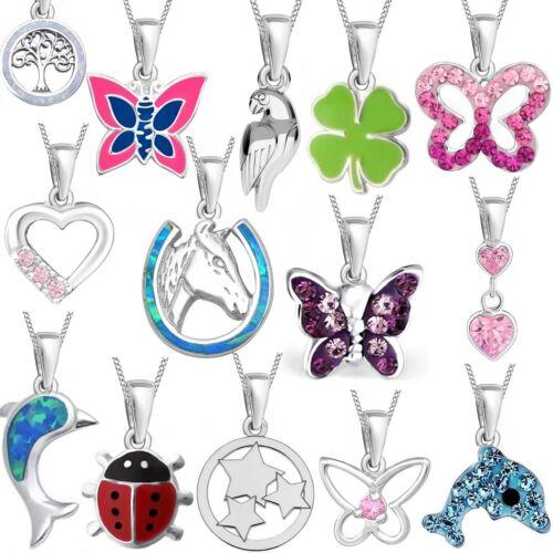 Anhänger Halskette 925er Echt Silber Opal Mädchen Damen Set Emaille Zirkonia