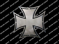 Iron Cross #2 Hot Rod Motorcycle Biker Rat Rod WWII Emblem Badge Metal Gusset