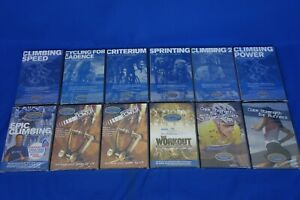 NEW *12 Pack* CTS Chris Carmichael Training Systems DVD's - Indoor Cycling
