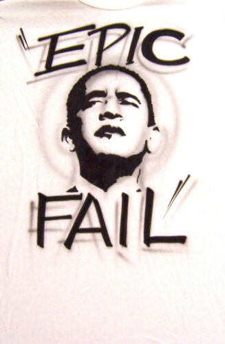 Anti OBAMA EPIC FAIL President T-Shirt Tea Party USA Freedom Republican