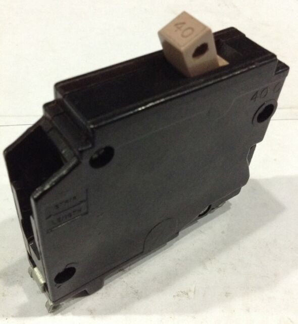 Cutler Hammer CH CH140 40 Amp 1 Pole 120//240V Vac Circuit Breaker PLASTIC FOOT
