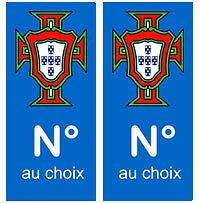 Autocollant-Portugal-departement-plaque-immatriculation-auto