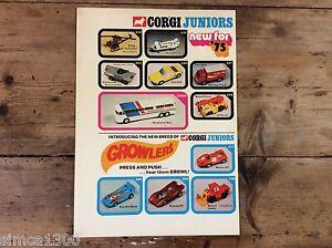 Corgi Communiqué de Presse 1975 Juniors Range Very Rare