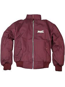 Lonsdale-Harrington-Ubergangsjacke-England-Jacket-Bordeaux-Tartan-Herren-5208