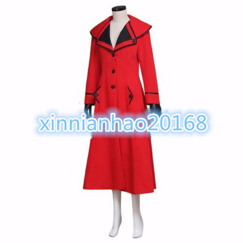 Mary Poppins Red Uniform Dress For Party Cosplay Women/'s Cosplay Costume
