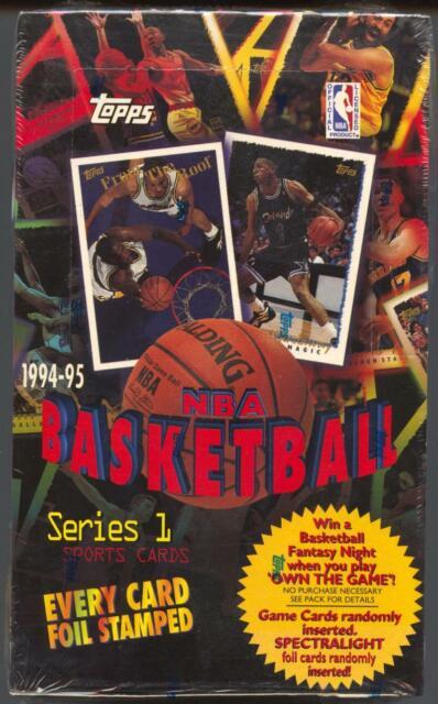 1994-95 Topps NBA Basketball Cards Series 1 Box