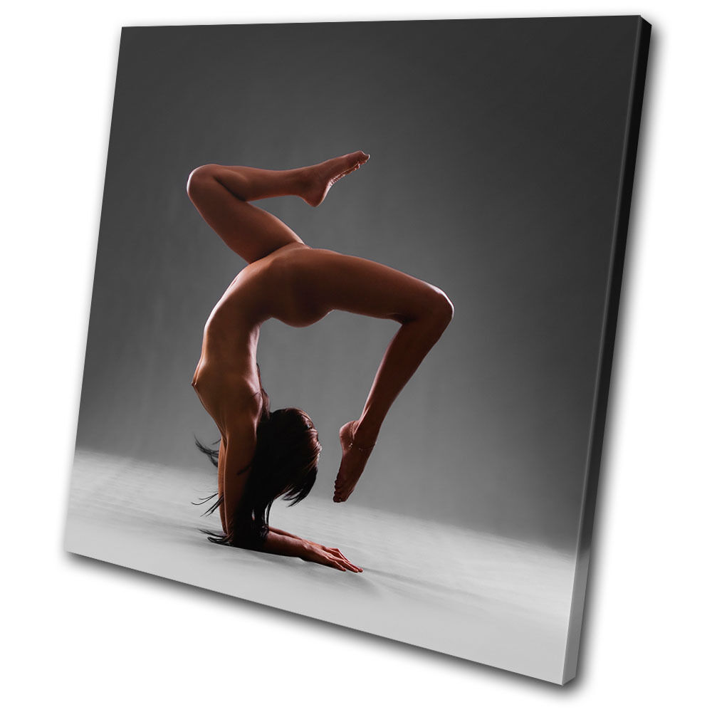 Erougeic Nude Gymnast SINGLE TOILE murale ART Photo Print