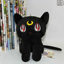 Nice Sailor Moon Black Purple Luna Cat White Artemis Plush Toy Soft Stuffed Animal Doll Movies & Tv Dolls & Stuffed Toys