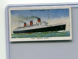 1938-W-D-amp-H-O-WILL-039-S-CIGARETTES-SPEED-COLLECTOR-CARD-37-THE-QUEEN-MARY