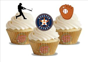 Image Is Loading 12 X Baseball Houston Astros Trio Mix Birthday