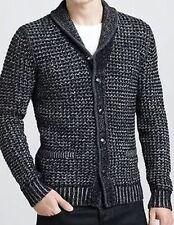 Mens Rag & Bone Cardigan Sweater XL Black Gray Neiman Marcus For Target New