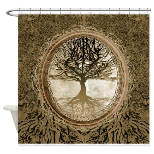 CafePress Tree Of Life In Brown Shower Curtain 1263234163