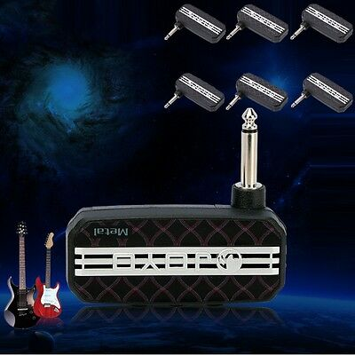 classic rock electric guitar mini pocket amp amplifier mp3 input headphone ebay. Black Bedroom Furniture Sets. Home Design Ideas