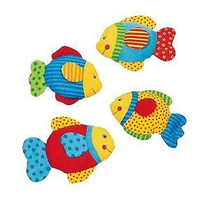 GUTE-LAUNE-FISCH-Baby-Spielzeug-aus-Baumwolle-mit-Knisterfolie-NEU