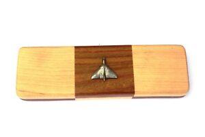 Avro Vulcan Chequered Wooden Pen Set Black Ball Point Pens 015