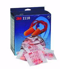 3m 1110 Disposable Orange Polyurethane Corded Ear Plugs 37db 100 Pairs