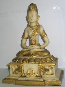 Buddha-Figur-Dhyana-Mudra-mit-Dose-Feng-Shui-Kunststein-23x16x11cm