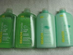 John-Frieda-beach-blonde-Cool-Dip-SHAMPOO-amp-Conditioner-Lot-of-4