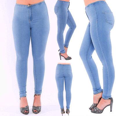 Analitico Women's Donna Ragazza Elasticizzato Skinny Fit Blu Jeans In Denim Da Discoteca Pantaloni Pants-mostra Il Titolo Originale Le Merci Di Ogni Descrizione Sono Disponibili