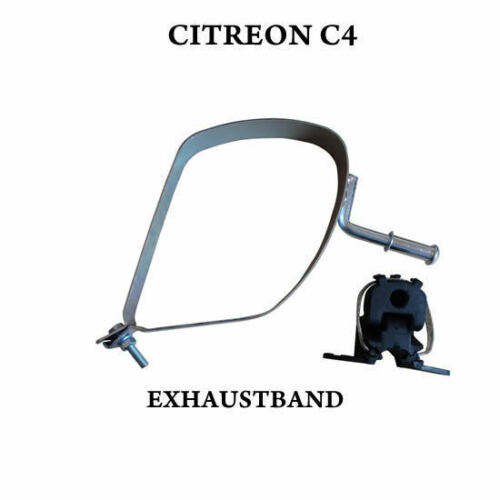 CITREON C4 REAR EXHAUST BAND STRAP BOX SILENCER BRACKET WITH RUBBER MOUNT HANGER