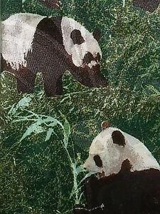 Steven-Harris-Tie-Necktie-PANDA-BEARS-Hand-Made-Bamboo-Green