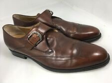 Cole Haan Brown Leather Monk Strap Wingtip Dress Shoes Men's 10M Nike Air