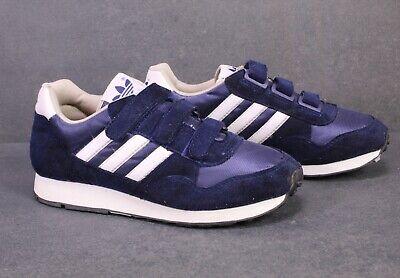 SB508 Adidas Damen Sneaker Gr. 38 blau weiß Sportschuhe Klettverschluss Vintage   eBay