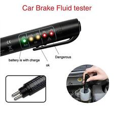 Brake Fluid Tester LED Moisture Water Compact Tool DOT3 4 Test Indicator Pen SS
