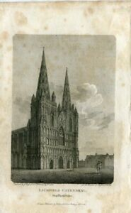 Lichfield-Cathedral-Engraving-By-J-Roffe-Of-A-Drawing-Of-F-Nash