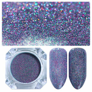 BORN-PRETTY-Holographic-Powder-Nail-Art-Glitter-Laser-Starry-Blue-DIY