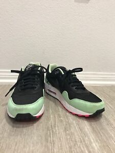 734c48431a40bd Nike Air Max 1 FB BLACK FRESH MINT GREEN PINK FLASH WHITE YEEZY ...