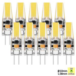 10x 1x g4 led 3w cob lampe remplacer lampe halog ne ac dc. Black Bedroom Furniture Sets. Home Design Ideas