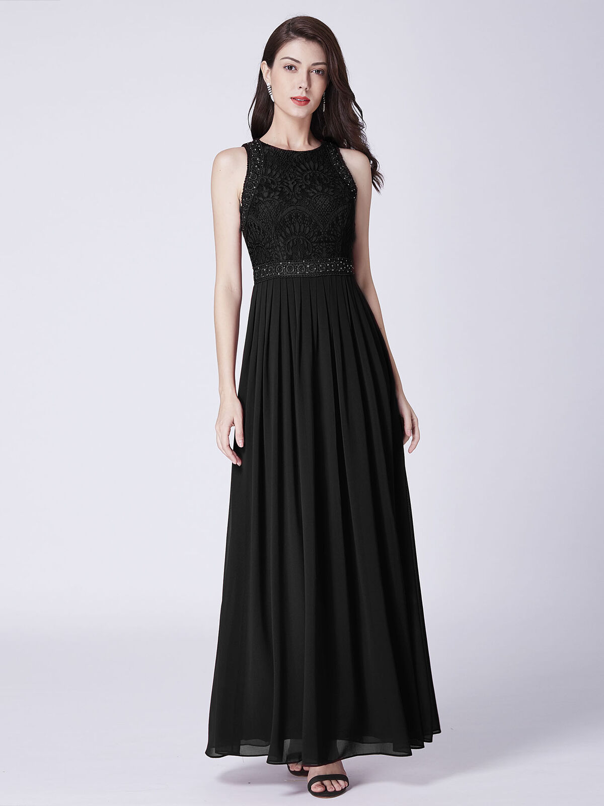 UK Ever-Pretty Womans Lace Long Evening Dresses Sleeveless Prom Party Dress 7391