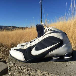 Details about Nike Zoom Air Shox Vision White Blue Basketball Shoes Size 9 Women's
