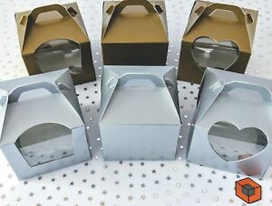 Single-Cupcake-Boxes-GOLD-or-SILVER-With-or-Without-Window