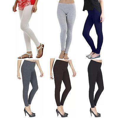 Ragionevole Da Donna Plain Lycra Cotone Stretch Piena Lunghezza Legging Plus Size M-xxxl-mostra Il Titolo Originale
