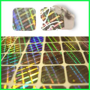 HOLOGRAM WARRANTY SEALS TAMPER PROOF SECURITY STICKERS VOID LABELS 0.4X0.4 INCH